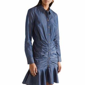 Veronica Beard Denim Mini Shirt Dress - Size 12